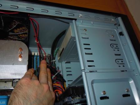 DVD-Laufwerk im Gehäuse