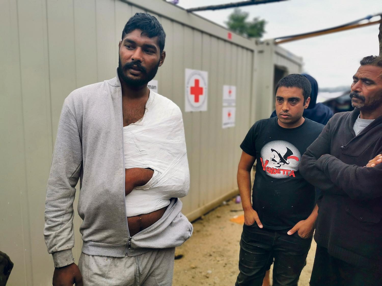 Flüchtling,Camp,Sonur