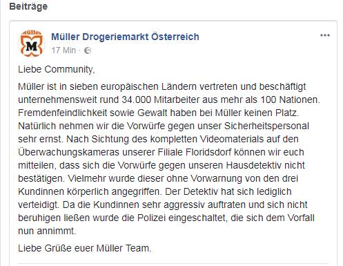 Müller Stellungnahme