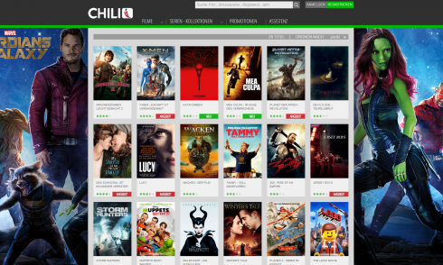 Chili, Video-on-Demand, Screenshot