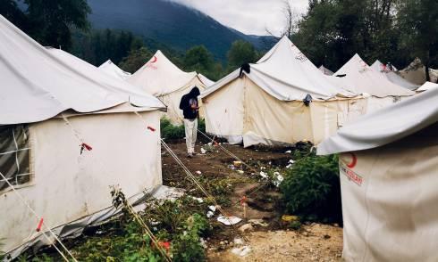 Flüchtlinge, Bosnien, Vucjak, Camp