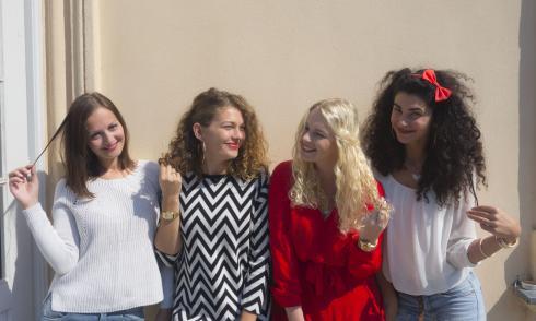 Alex, Delna, Dajana und Natalija