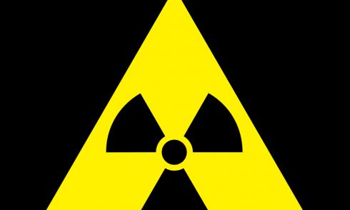 Das Warnschild für Radiokativität