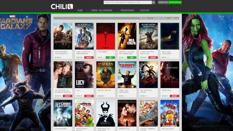 Chili, Video-on-Demand, Screenshot