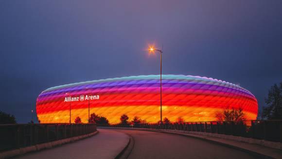 München wollte die Allianz-Arena gegen Ungarn in Regenbogenfarben leuchten lassen (Foto: Piero Nigro)